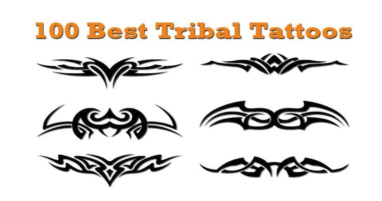 Tribal star tattoo designs for women