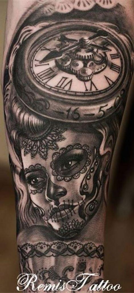 166 best day of the dead tattoos. Black Bedroom Furniture Sets. Home Design Ideas