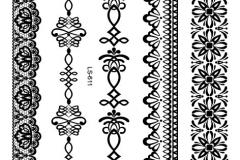 LS611-nieuwe-2015-A5-vellen-henna-tijdelijke-metallic-zwart-kant-armband-enkel-tattoo-ontwerp