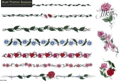 colored-flowers-armband-tattoos-designs