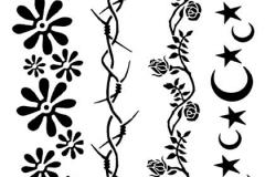 flowers-armband-tattoos-design