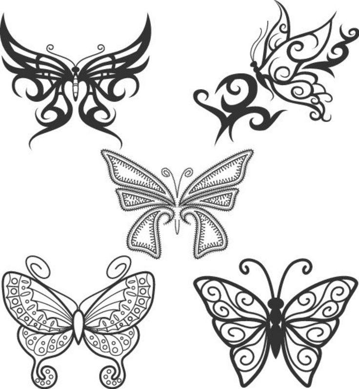 Как нарисованные тату бабочка