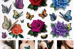 3-Sheets-Women-s-3D-font-b-Colorful-b-font-Waterproof-Body-Lip-Art-Sleeve-DIY