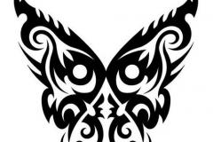 Butterfly-Tribal-Tattoo-Design-Idea