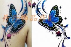 Free-shipping-38-tattoo-stickers-font-b-big-b-font-font-b-blue-b-font-font