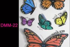 Mujeres-3d-tatuaje-temporal-del-tatuaje-de-la-mariposa-del-color-Flash-tatúa-la-etiqueta-engomada