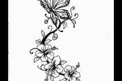 Neck-Back-Butterfly-Tattoo-Design-1