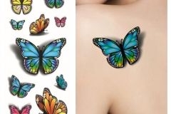 Sexy-Tatoo-Purple-3D-diseños-en-colores-Pastel-de-la-mariposa-3D-arte-del-tatuaje-del