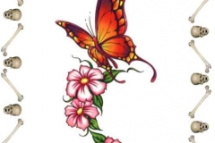 Sketch Tattoo butterfly simple (2)