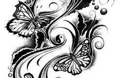 butterfly tattoo design 11