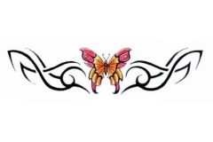 simple-colorful-butterfly-with-tribal-design-tattoo