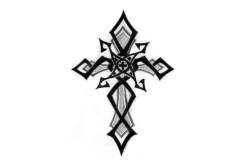 Small-Tribal-Cross-Tattoo-Design