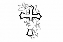 free-designs-cross-flower-contour-tattoo-women-5468415
