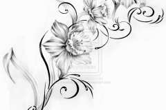 Elegant-Lotus-Flower-Tattoo-On-Lower-Back-1