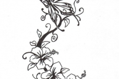 butterfly-with-flowers-tattoo-design