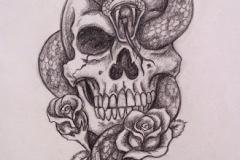 Skull tattoos designs ideas men women girls guys best (19)