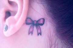 Best bow tattoos designs pictures images ideas (25)