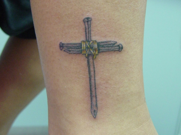 Nail Cross Tattoo: Small Cross