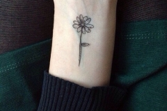 Small-Flower-Tattoo-On-Wrist