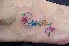 small-colorful-flower-tattoos